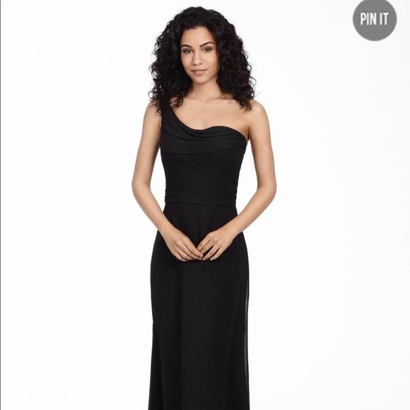 Hayley Paige Dresses Black One Shoulder Bridesmaid Dress Poshmark
